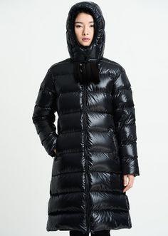 Plus Size Women Down Coat Jacket Hood Woman Down Coat Shiny Black Winter Coat Women Coat