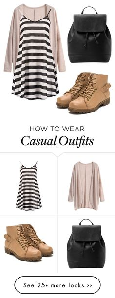 """""""outfit casual"""" by abbygirly on Polyvore featuring Boohoo and MANGO"""