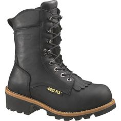 "WOLVERINE W05632 Men's Buckeye EAA Safety-Toe EH 8"" Logger Work Boot - Black, Work Series"