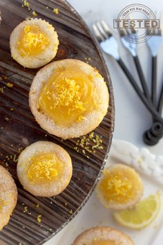 These lemon curd muffins are light, fluffy and unbelievably moist.They are quick and easy to make because you use a box of King Arthur Gluten Free Muffin Mix and a jar of store bought lemon curd. Warning, they are addicting! Holiday Cookie Recipes, Best Cookie Recipes, Best Dessert Recipes, Breakfast Recipes, Muffin Recipes, Lemon Desserts, Lemon Recipes, Fun Desserts, Spring Desserts
