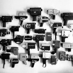What a fantastic collection of old movie cameras! I have the canon 814E auto zoom, which I think is shown in this picture. Lovely camera.