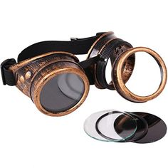 Star Power Steampunk Goggles Costume Accessory Bronze Black OneSize * Continue to the product at the image link-affiliate link.
