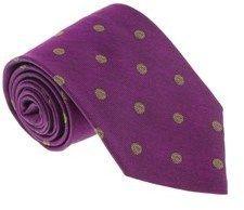 Missoni U5092 Purple/gold Polka Dot 100% Silk Tie.