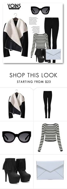 """""""#YOINS 2/1"""" by amina-haskic ❤ liked on Polyvore featuring Karen Walker, Rebecca Minkoff, women's clothing, women's fashion, women, female, woman, misses, juniors and yoins"""