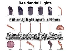 Outdoor Lighting Perspective Architectural fixtures are featured