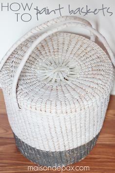 Update an old basket with a fresh coat of paint! This tutorial will teach you how to paint a basket and make it beautiful.