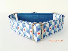 Collar Perro Martingale Modelo Geometrico azul. Martingale Dog Collar, Dog Collar, Collar Galgo - 4GUAUS.com de 4GUAUS en Etsy