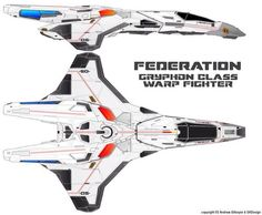 Star Trek: Federation Gryphon-Class Heavy Warp Fighter (Starfleet)