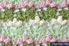 Crochet Flower Popcorn Stitch Tutorial - (mypicot)