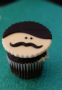 Mustached Cupcake