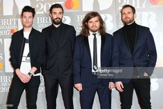 ONLY. Bastille attend The BRIT Awards 2017 at The O2 Arena on February 22, 2017 in London, England.