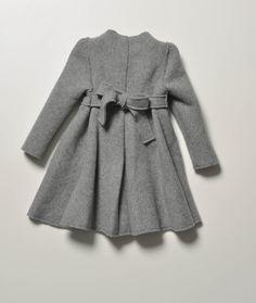 La Stupenderia Girls Grey Mathilde Wool Coat