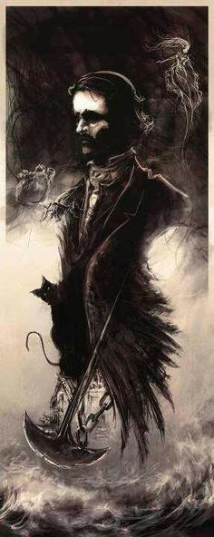 Edgar Allen Poe. This is so sick! I want this as a tattoo STAT!!