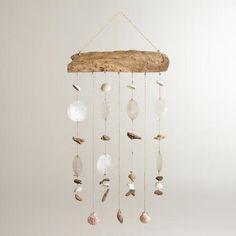 Driftwood and Seashells Mobile