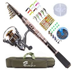Croch Spinning Rod and Reel Combos Portable Carbon Telescopic Fishing Rod and Reel Set for Saltwater or Freshwater Bass  https://fishingrodsreelsandgear.com/product/croch-spinning-rod-and-reel-combos-portable-carbon-telescopic-fishing-rod-and-reel-set-for-saltwater-or-freshwater-bass/  Strong and Durable. This fishing rod is made from Carbon Fiber mixed with Fiberglass. Conveniently. Portable closed length design for conveniently carrying around. Best suitable for fishing fro