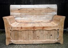 recycled pallet patio bench plan