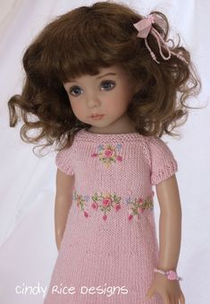 """So Pretty in Pink"", made for Dianna Effner's Little Darling dolls, cindyricedesigns.com ."