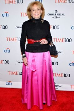 NEW YORK, NY - APRIL 29: Journalist Barbara Walters attends the TIME 100 Gala, TIME's 100 most influential people in the world, at Jazz at Lincoln Center on April 29, 2014 in New York City. (Photo by Ben Gabbe/Getty Images for TIME)