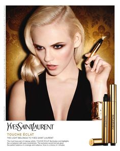 Ginta Lapina in YSL's 2012 Touche Eclat campaign shot by Terry Richardson.