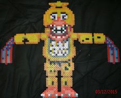 Withered Chica by Pumpkin-King-Zak.deviantart.com on @DeviantArt  Withered Chica fnaf hama / perler bead