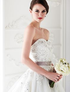 Ballgown with embellished bodice and lilac sash, from Style Bridal & Beauty. Bouquet, from Fiore Dorato. Her World Brides June - August 2013.