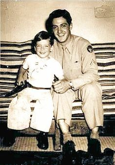 Al Pacino with Papa Pacino sometime in the late 1940's