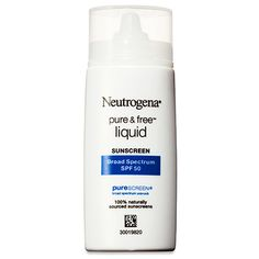"Best Skincare Products - Good Housekeeping 2014 Beauty Awards - ""Gentle"" is the word for this sun shield (it's free of fragrance, dyes and oils), which garnered perfect scores for its nonirritating formula. Neutrogena Pure & Free Liquid SPF 50, $13"