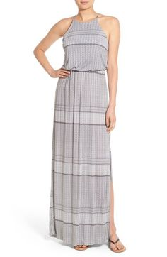 Lush High Neck Maxi Dress available at #Nordstrom