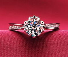 1.2 carat engagement ring man made diamond by Donatellawedding