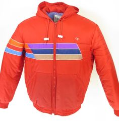 Vtg 80s Ocean Pacific Rainbow Stripe Ski Jacket XL Snowboard Winter Puffy Puffer   eBay