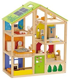 Hape All Season House Furnished - Wooden Dolls House