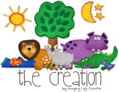 Creation felt board printables by Keeping Life Creative