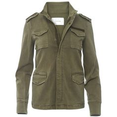 Anine Bing Army Jacket  Green (6.895 ARS) ❤ liked on Polyvore featuring outerwear, jackets, tops, coats, undefined, army jackets, green military jackets, brown jacket, brown military jacket and multi pocket jacket