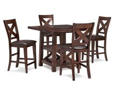 Counter Height Tables-Salento 5 Pc. Counter Height Table Group-Share a home-grown meal