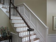 wainscoting on stairs top - Google Search