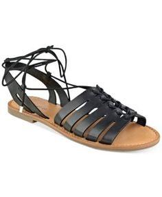 indigo rd. Baku Lace-Up Sandals - Black 9.5M