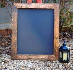 """Rustic Framed Chalkboard 30""""x36"""", Rustic Wedding Sign, Menu Board, Chalkboard, Reclaimed Wood, Big Chalkboard on Etsy, $79.00"""