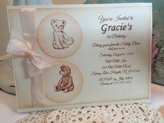 Vintage Style Birthday Party Girl Teddy Bear Dolls & Bears