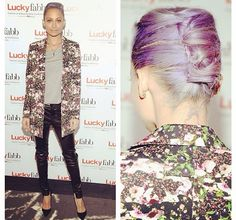 Nicole Richie in Givenchy and lilac hair