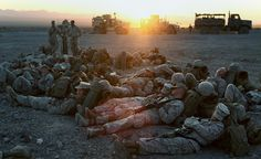 Even Marines need a nap every once in a while (U.S. Marine Corps photo by Sgt. Anthony Ortiz)