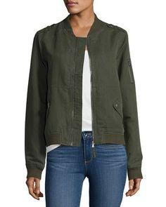 Geena Bomber Jacket, Army