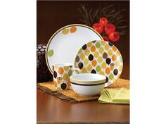 Rachael Ray Little Hoot 16-pc Dinnerware Set, Conversation at the dinner table with your family/friends is precious memories.... So do it in SMART Style with  Little Hoot :-)