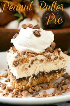 Frozen Peanut Butter Pie via Blooming on Bainbridge  http://www.bloomingonbainbridge.com/2012/10/frozen-peanut-butter-pie.html
