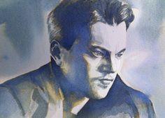 'Leonardo DiCaprio' ink - 13cm x 18cm - paper