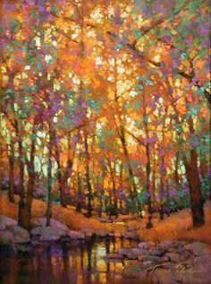Pastel Landscape, Abstract Landscape, Landscape Paintings, Watercolor Trees, Watercolor Landscape, Watercolor Paintings, Pastel Paintings, Impressionist Landscape, Impressionist Paintings