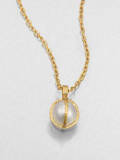 Gurhan 24K Yellow Gold & South Sea Pearl Capture Pendant Necklace #1010ParkPlace Gold Pendant Necklace, Pearl Pendant, Contemporary Jewellery Designers, Delicate Jewelry, South Sea Pearls, Affordable Jewelry, Baroque Pearls, Sapphire, Jewelry Accessories