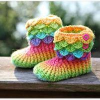 Crocodile Stitch Boots (Child Sizes) - via @Craftsy