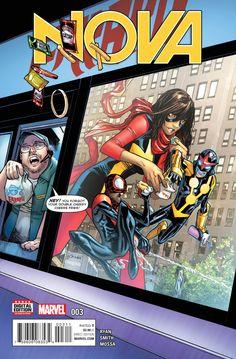 Nova cover art by Humberto Ramos Avengers Team, Marvel Avengers, Marvel Comics, Cosmic Comics, Ultimate Spider Man, Cory Smith, Ms Marvel Kamala Khan, Spiderman Comic Books, Marvel Series