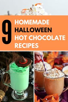 Many people (incorrectly 😜) think hot chocolate is more appropriate for later in the holiday season. We think that there is no better way to warm yourself in the chilly fall air than with a rich creamy cup of homemade hot chocolate. We've gathered the best homemade hot chocolate recipes, with delightfully devious Halloween twists. #halloweendrinks #drinksrecipes #hotchocolate #halloween #homemade