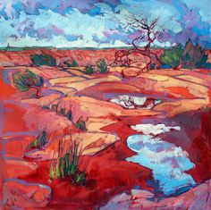 Canyon de Chelly Arizona desert oil painting by Erin Hanson
